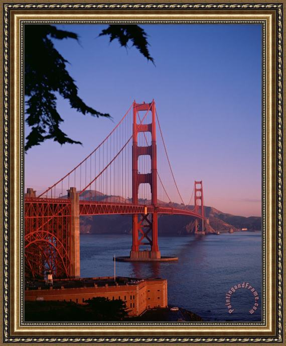 American School View of the Golden Gate Bridge Framed Print