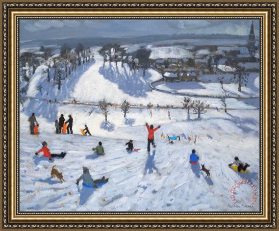 Andrew Macara Winter Fun Framed Painting