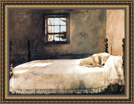 andrew wyeth master bedroom framed print for sale paintingandframe