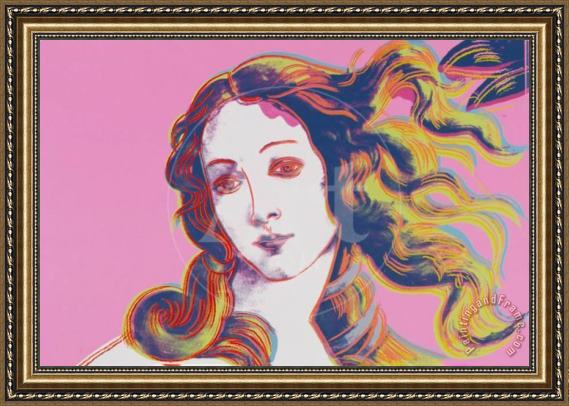 Andy Warhol Birth of Venus in Pink Framed Painting