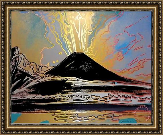 Andy Warhol Mount Vesuvius 1985 Framed Painting