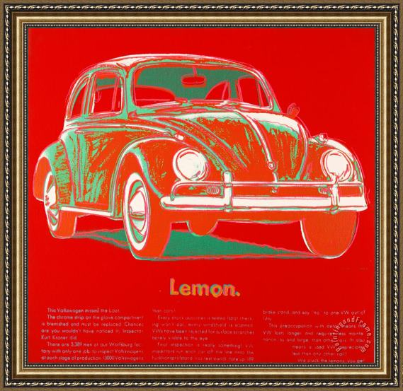 Andy Warhol Volkswagen Framed Painting