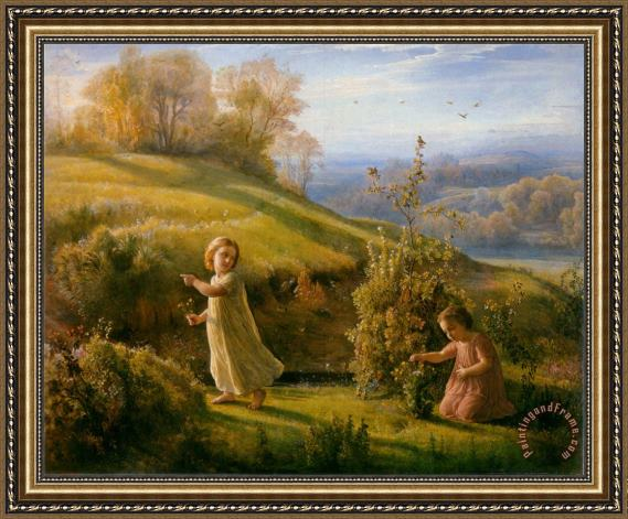 Anne Francois Louis Janmot The Poem of The Soul Spring Framed Print