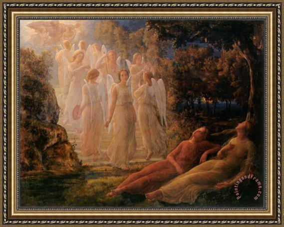Anne Francois Louis Janmot The Poem of The Soul The Golden Ladder Framed Print