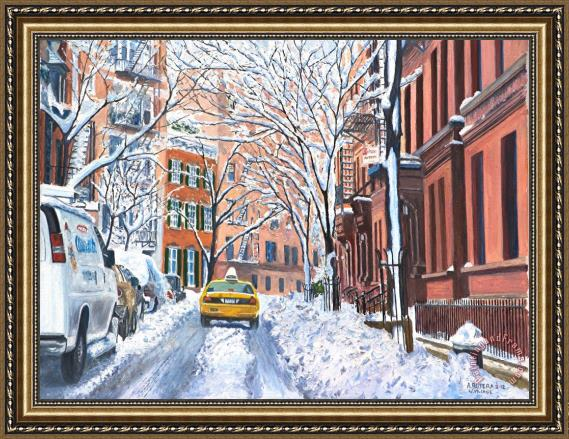 Anthony Butera Snow West Village New York City Framed Print