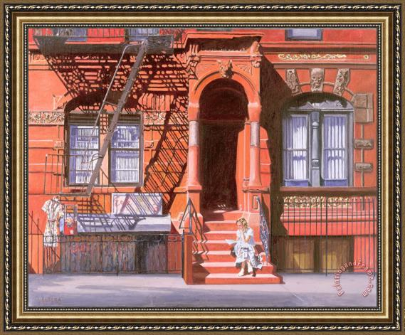 Anthony Butera Sunday Afternoon East 7th Street Lower East Side Nyc Framed Print