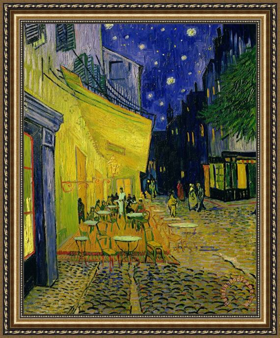 Cafe Terrace Arles Vincent van Gogh Framed Print