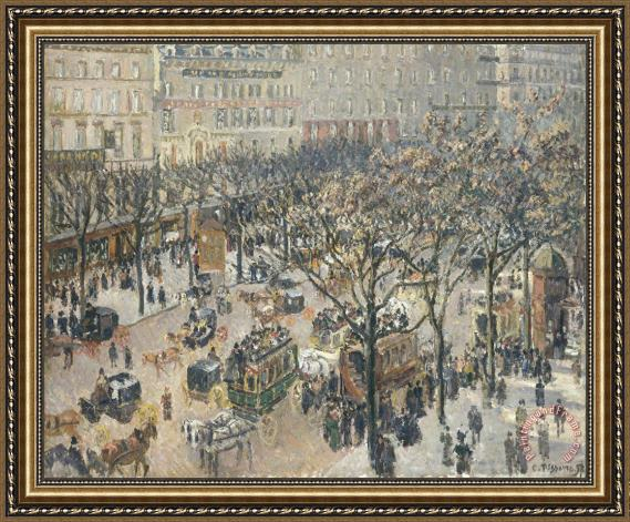 Camille Pissarro Boulevard Des Italiens Morning Sunlight Framed Painting