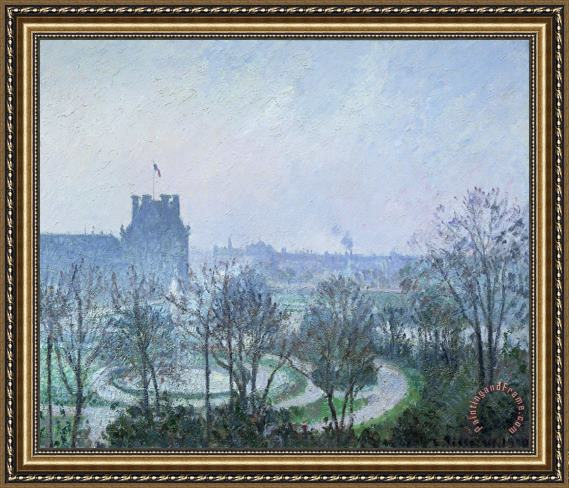 Camille Pissarro White Frost Jardin des Tuileries Framed Print