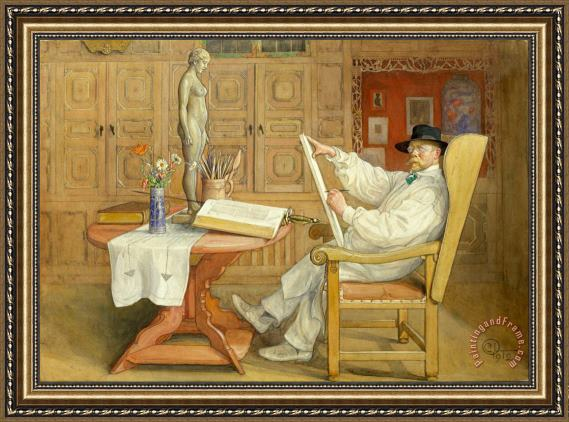 Carl Larsson In The New Studio Framed Painting
