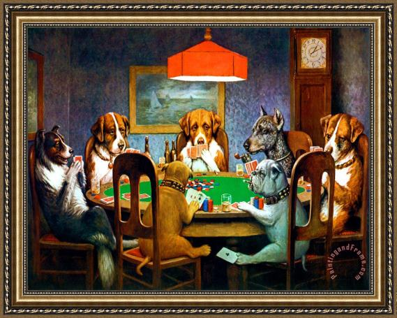 Dogs playing poker rugs materiel poker pas cher