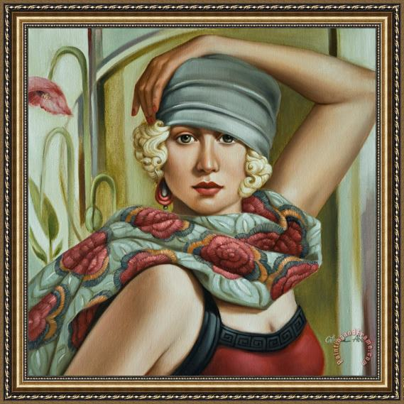 Catherine Abel Grey Cloche Framed Print