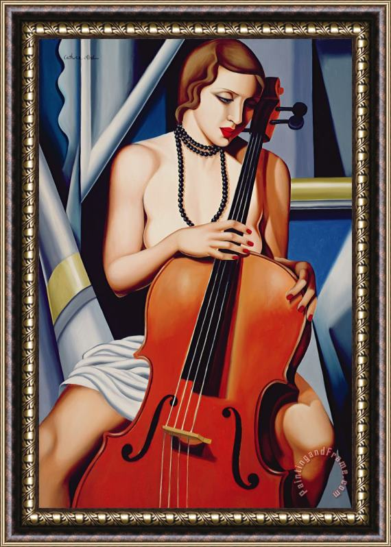 Catherine Abel Woman with Cello Framed Print