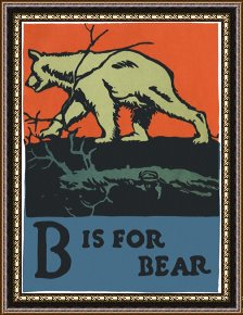 Alphabet B Is For Bear Framed Paintings For Sale Art Prints For Sale