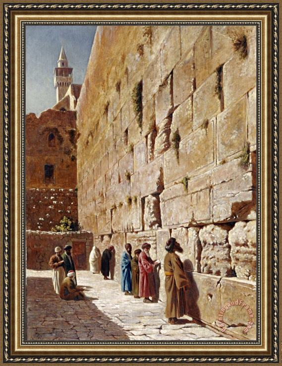 Charles Robertson At The Wailing Wall Framed Painting