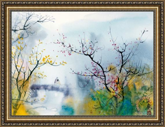 Chi Wen Lovers at Chi Tou Framed Print