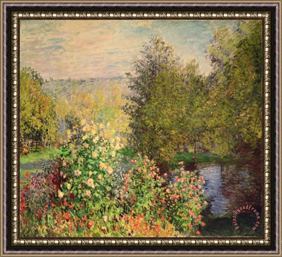 Claude Monet A Corner of the Garden at Montgeron Framed Painting