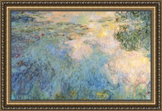 Claude Monet Basin Of Water Lilies Framed Print