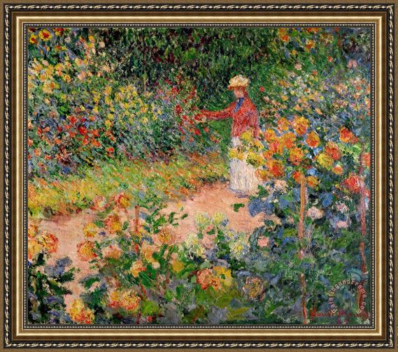 Claude Monet Garden at Giverny Framed Print