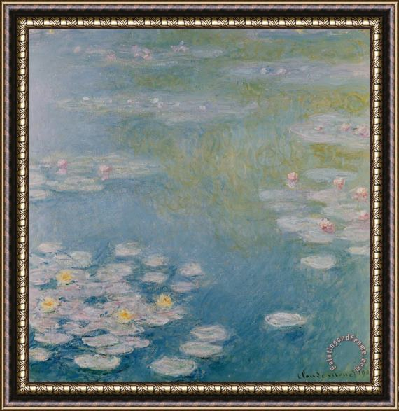 Claude Monet Nympheas at Giverny Framed Painting