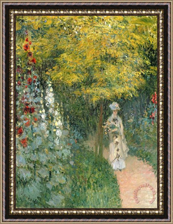 Claude Monet Rose Garden Framed Print