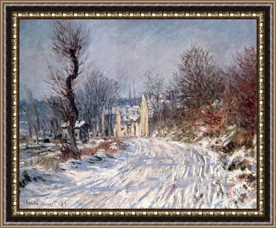 Claude Monet The Road to Giverny in Winter Framed Painting