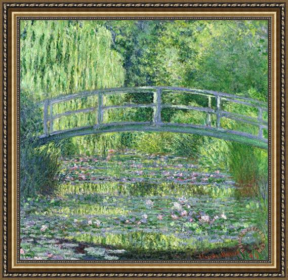 Claude Monet The Waterlily Pond Framed Print