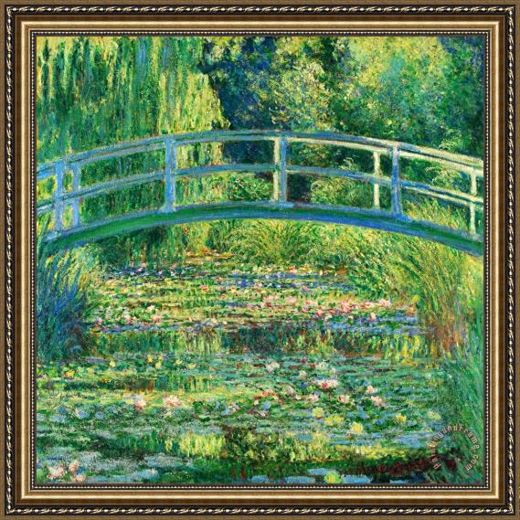 Claude Monet The Waterlily Pond With The Japanese Bridge Framed Print