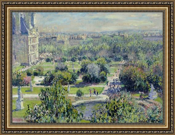 Claude Monet View of the Tuileries Gardens Framed Print