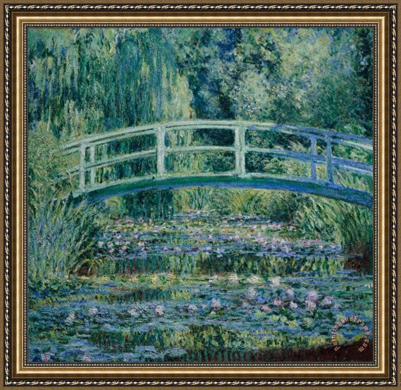 Claude Monet Water Lilies And Japanese Bridge Framed Print