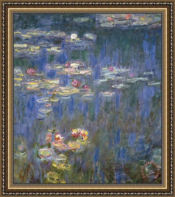 Claude Monet Water Lilies Framed Painting
