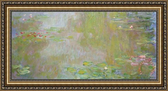 Claude Monet Waterlilies at Giverny Framed Print