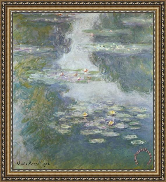 Claude Monet Waterlilies Framed Print