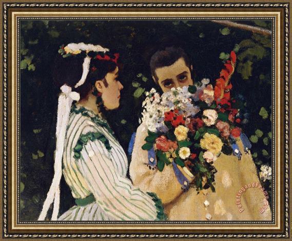 Claude Monet Women In The Garden Framed Print