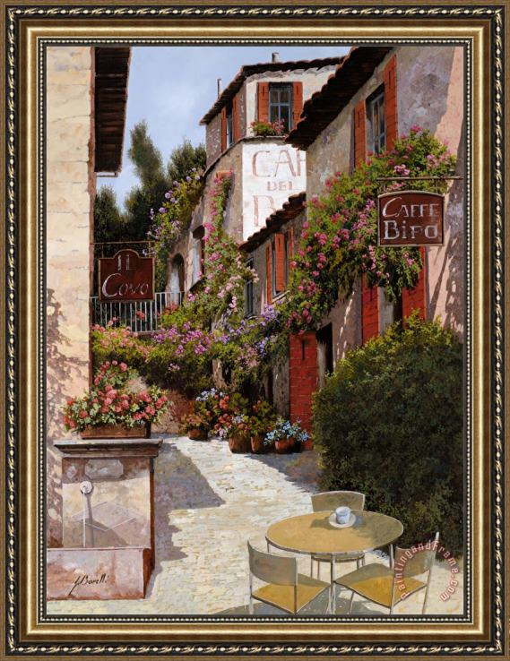 Collection 7 Cafe Bifo Framed Print