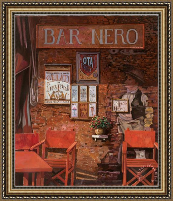 Collection 7 caffe Nero Framed Print