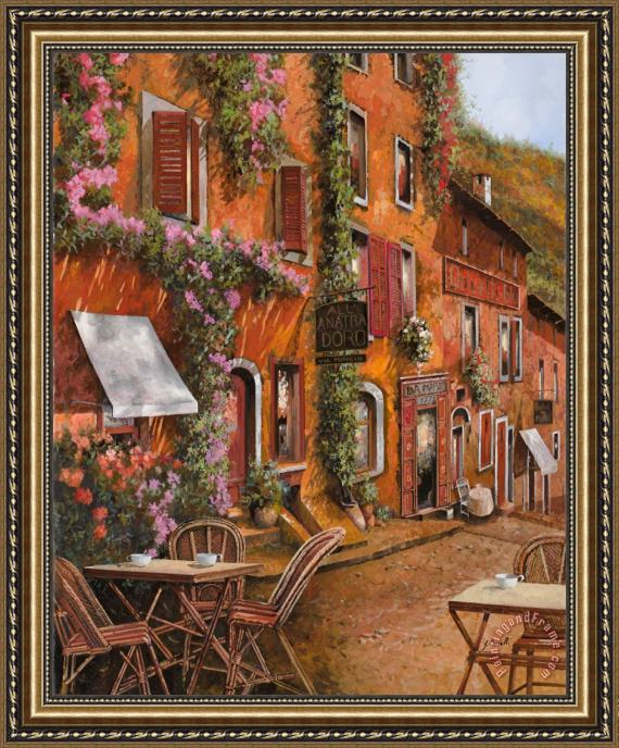 Collection 7 Il Bar Sulla Discesa Framed Print