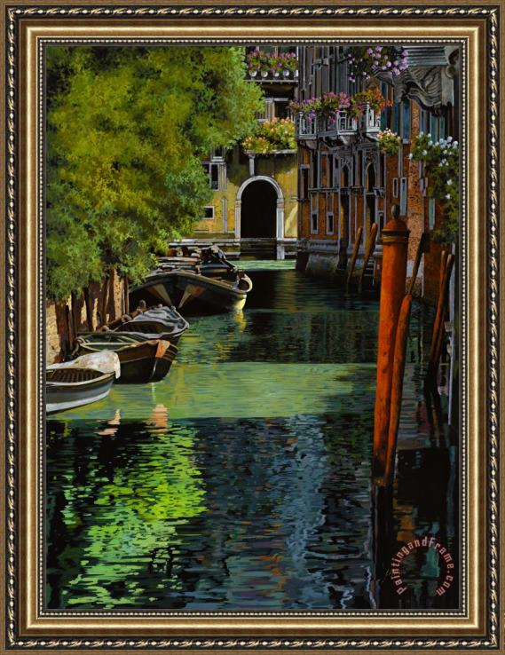 Collection 7 il palo rosso a Venezia Framed Painting