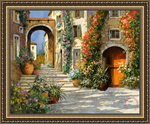 Collection 7 La Porta Rossa Sulla Salita Framed Print