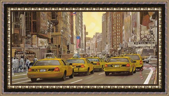Collection 7 taxi a New York Framed Print
