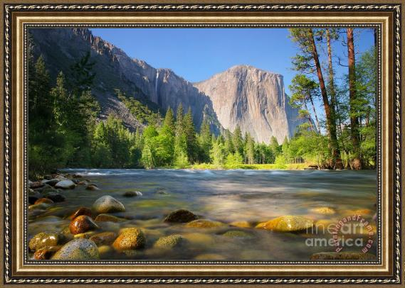 Collection Merced River in Yosemite Valley Framed Painting