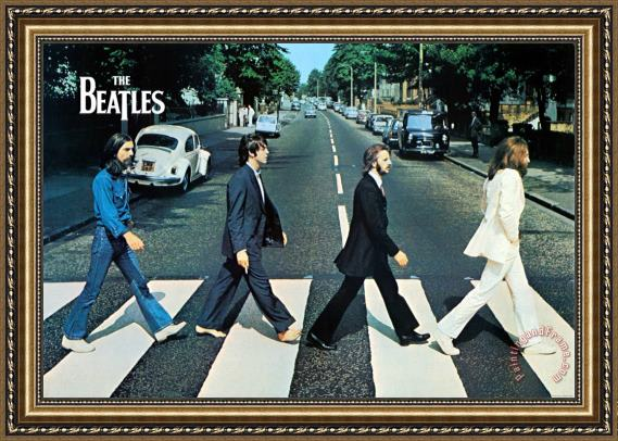 Collection The Beatles Abbey Road Framed Painting for sale ...