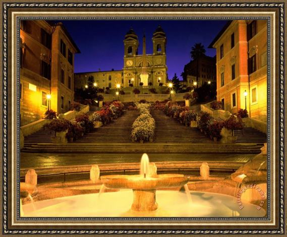 Collection Trinita Dei Monti Steps Rome Italy Framed Print