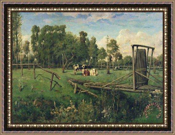 Constant-Emile Troyon A Pasture in Normandy Framed Print