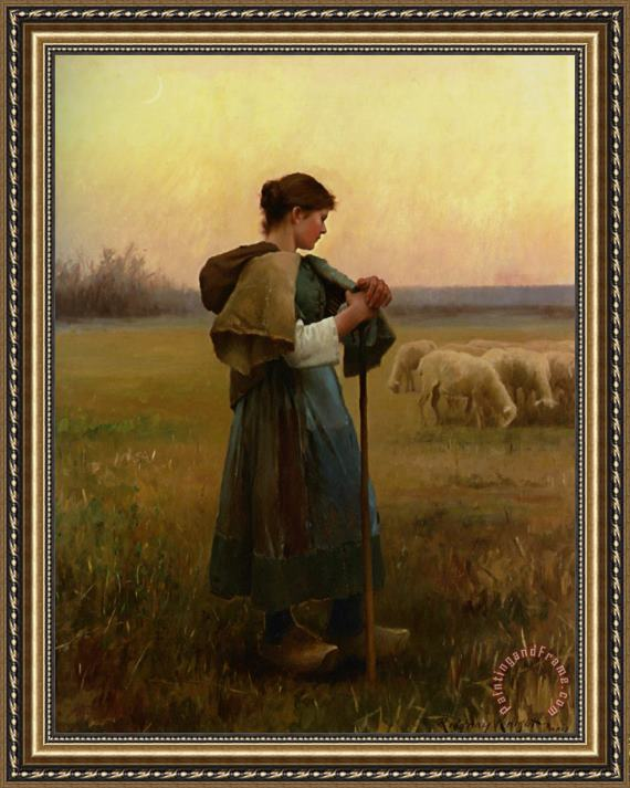 Daniel Ridgway Knight The Young Shepherdess Framed Print