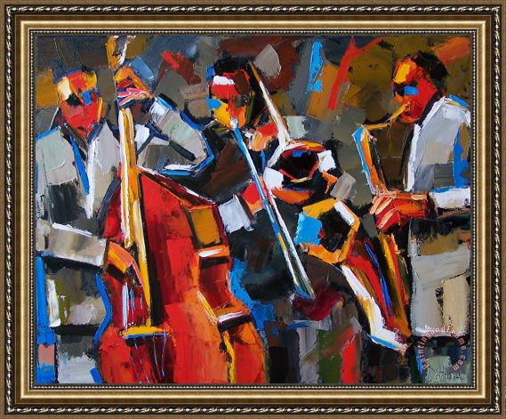 Debra Hurd Jazz Angles Framed Print