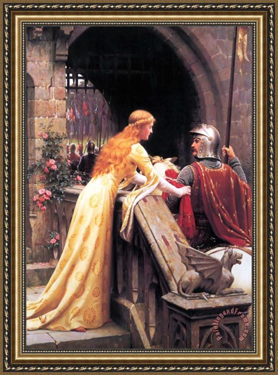 Edmund Blair Leighton God Speed! Framed Print