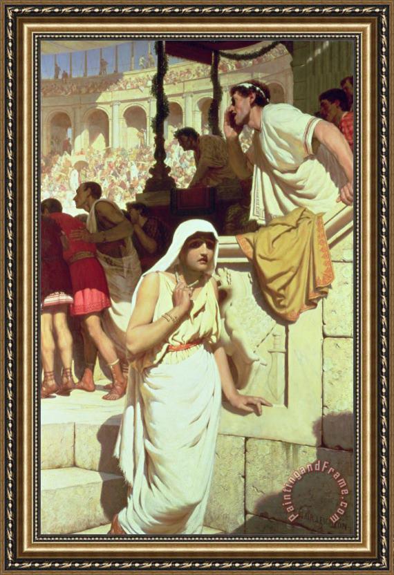 Edmund Blair Leighton The Gladiators Wife Framed Print For