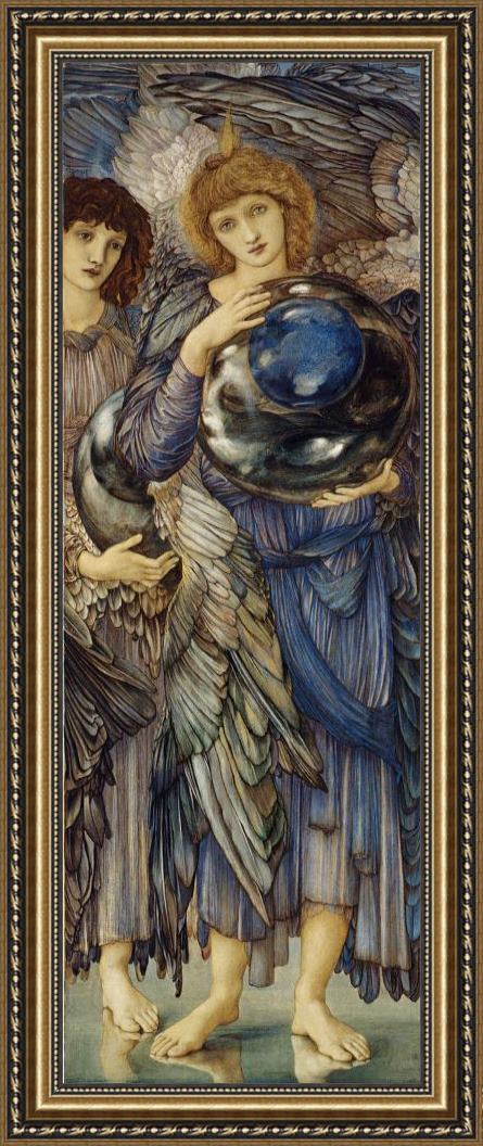 Edward Burne Jones The Days of Creation The Second Day Framed Painting