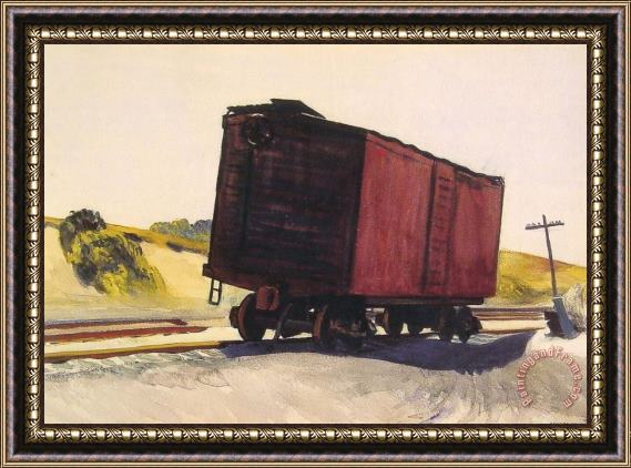 Edward Hopper Freight Car at Truro Framed Painting
